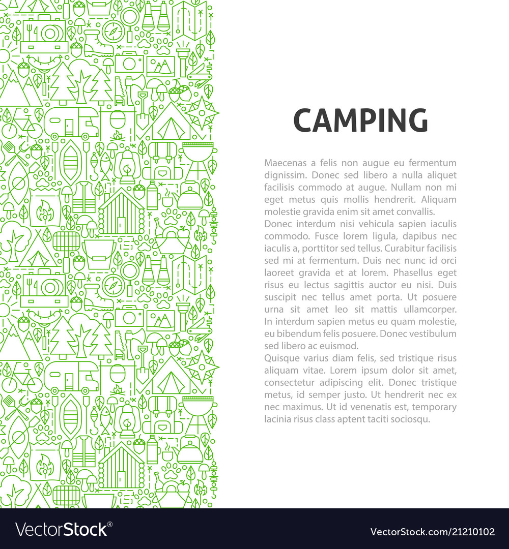 Camping line pattern concept
