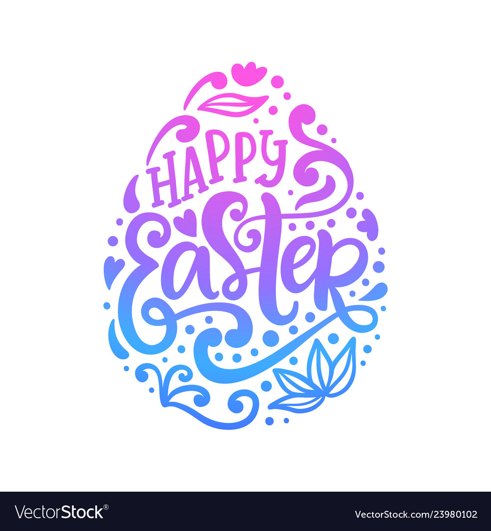 Happy easter banner greeting card template