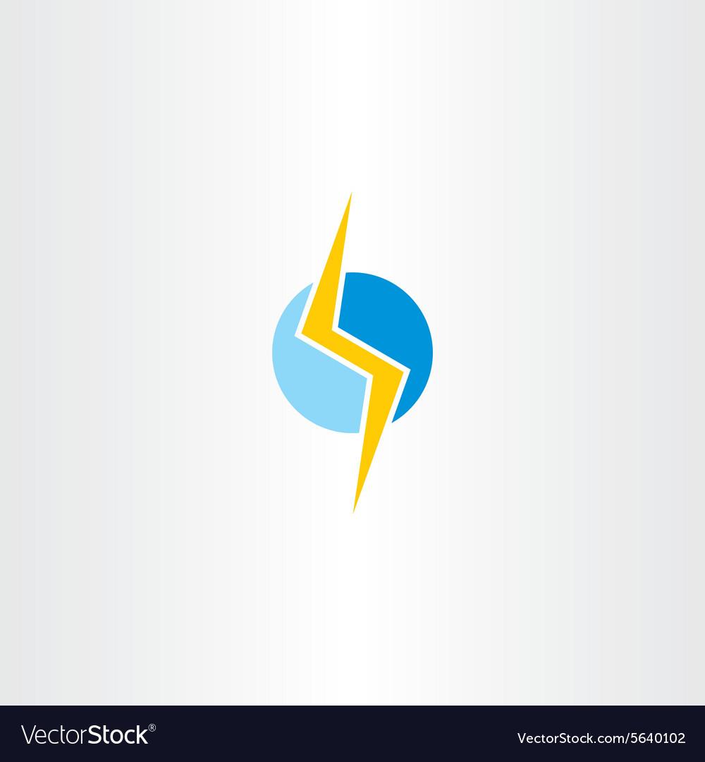 Lighting bolt yellow blue logo