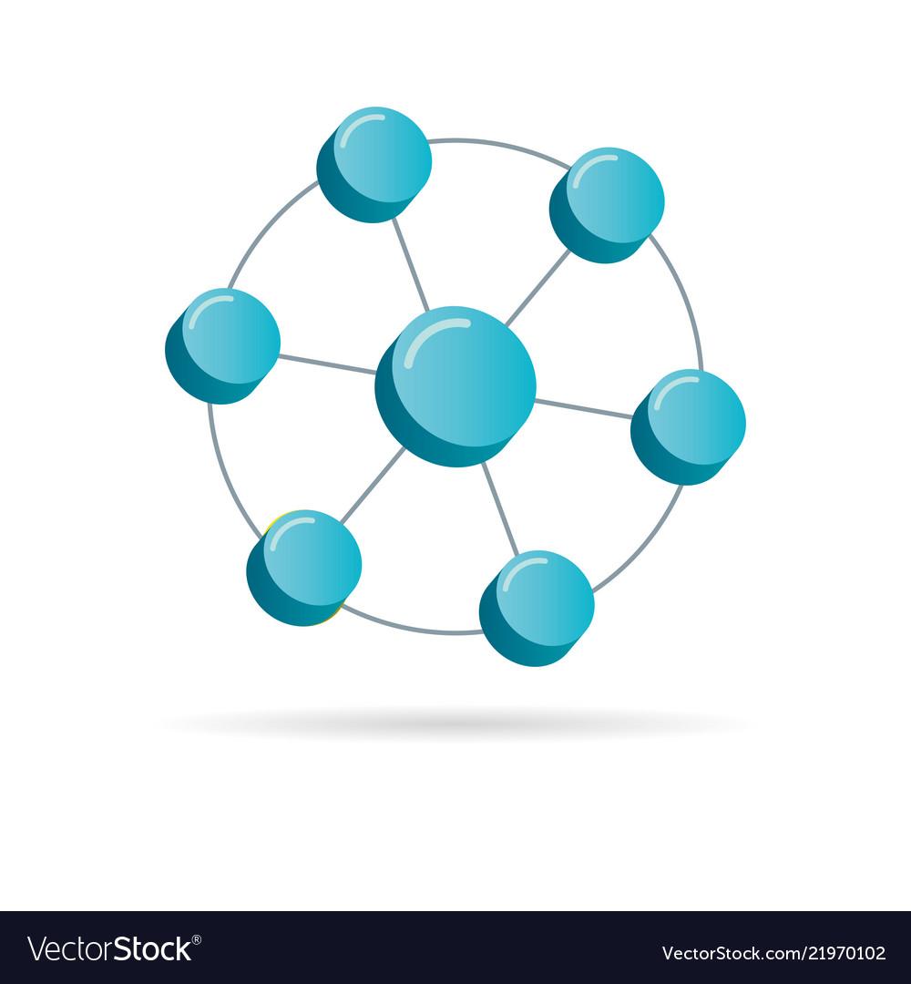 Network 3d symbol