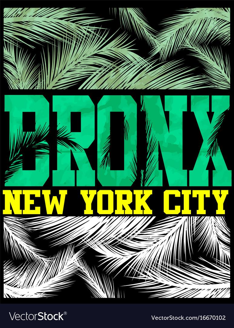 New York Bronx T Shirt Design Royalty Free Vector Image