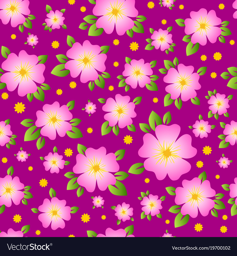 Seamless pattern for paper textiles vector image