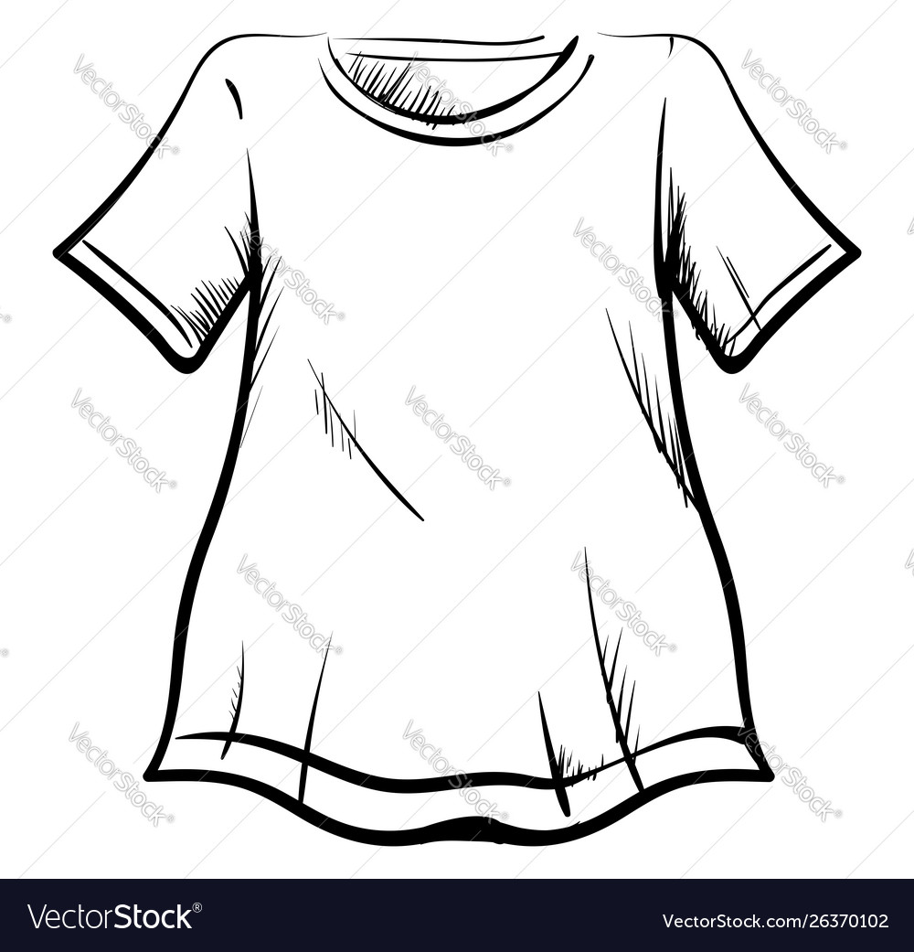 T-shirt drawing on white background