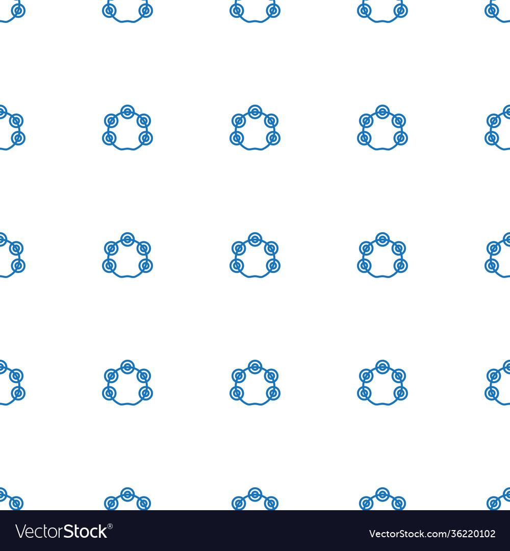 Tambourine icon pattern seamless white background