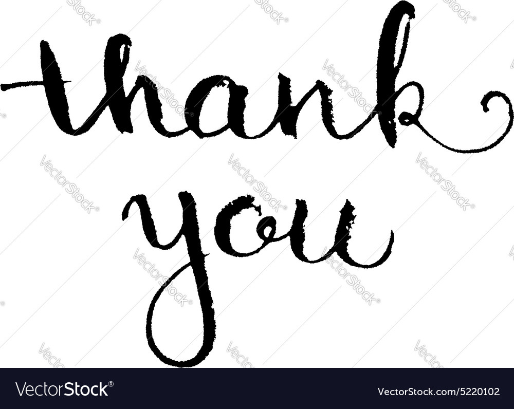 Thank you hand lettering elegant card