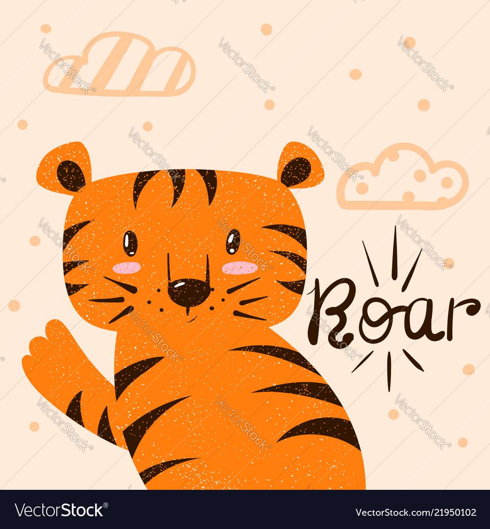 Tiger roar cartoon characters