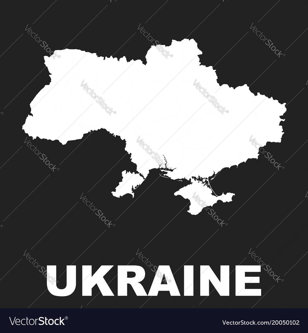 Ukraine map icon flat ukraine sign symbol on