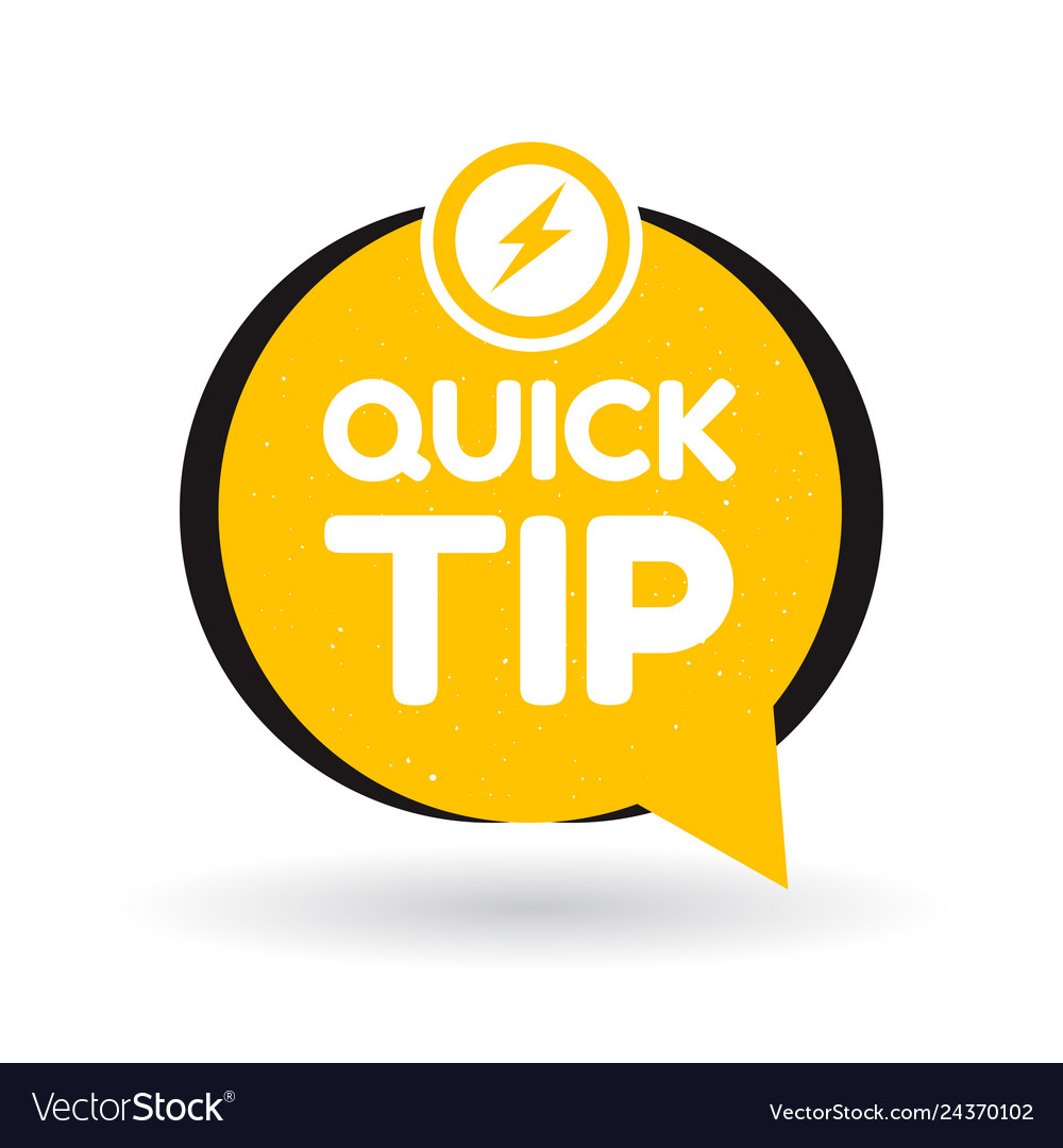 Yellow quick tips logo icon or symbol with