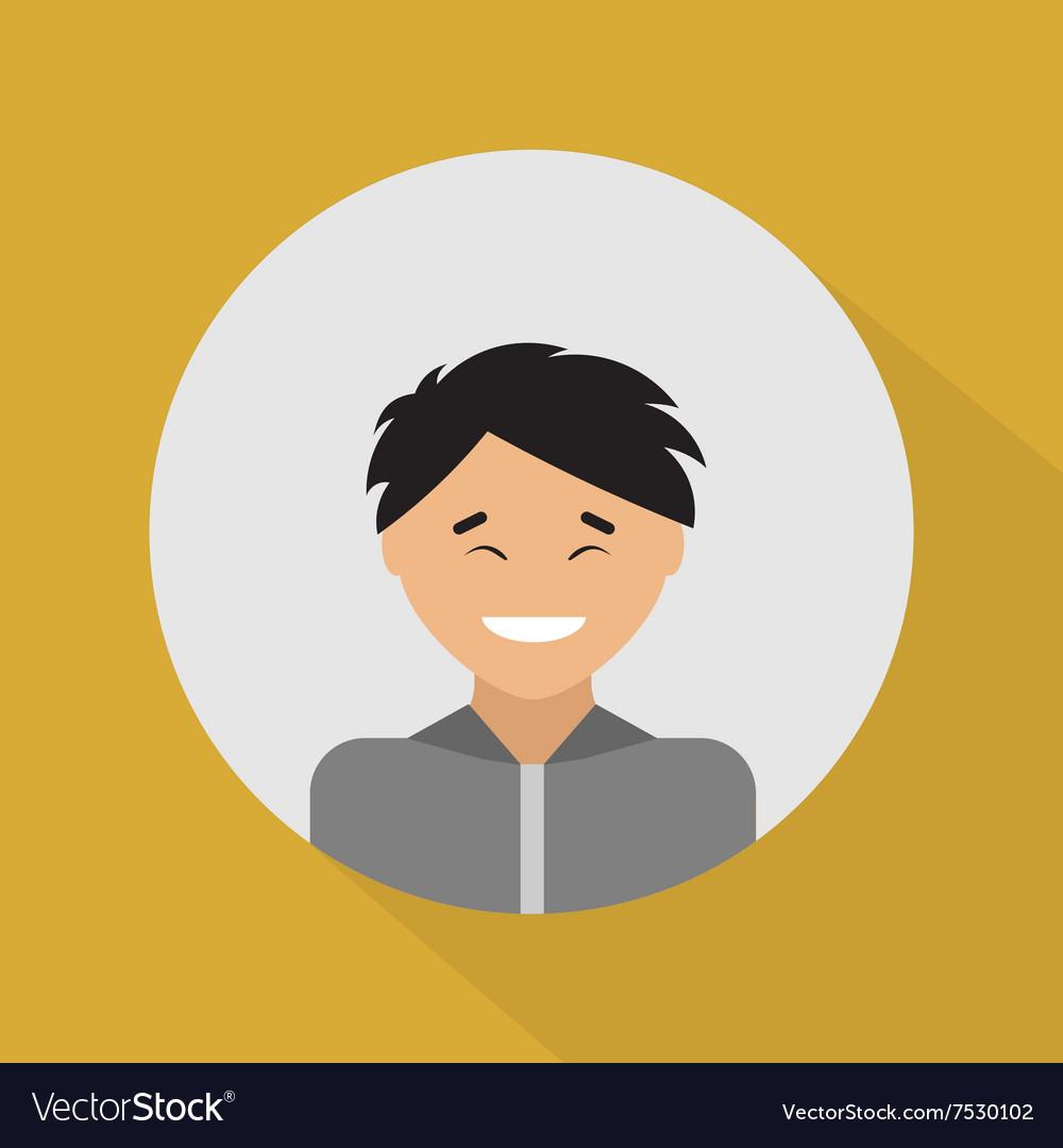Young asian man Flat design