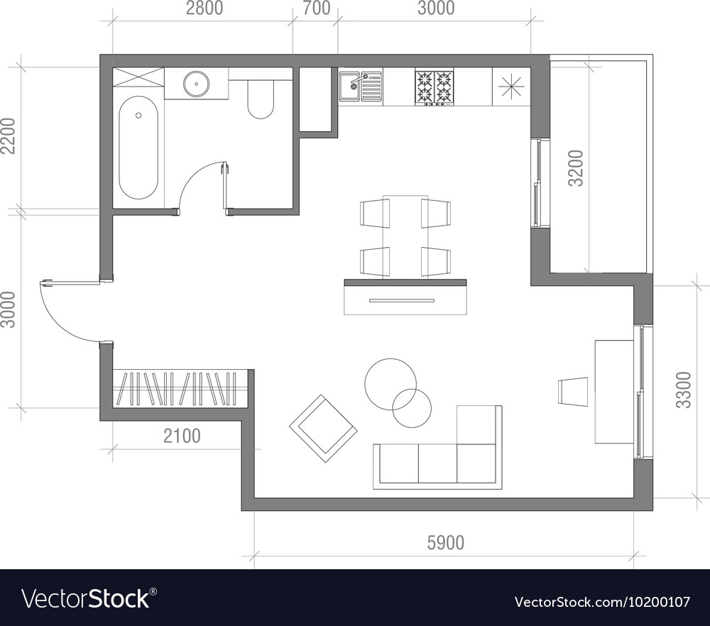 Architectural Floor Plan with