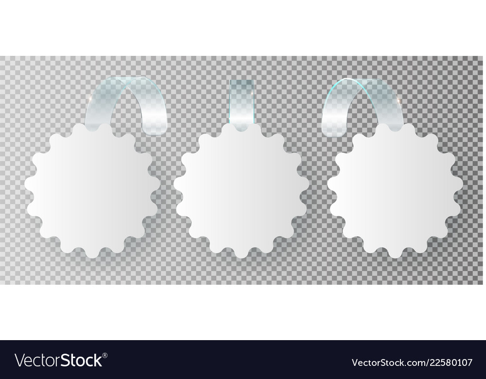 Blank white wobbler hang on wall mock up 3d