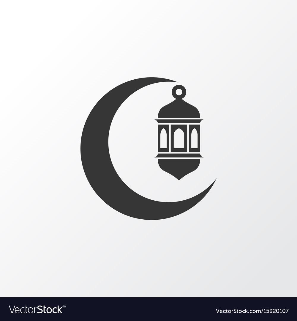 Crescent icon symbol premium quality isolated vector image
