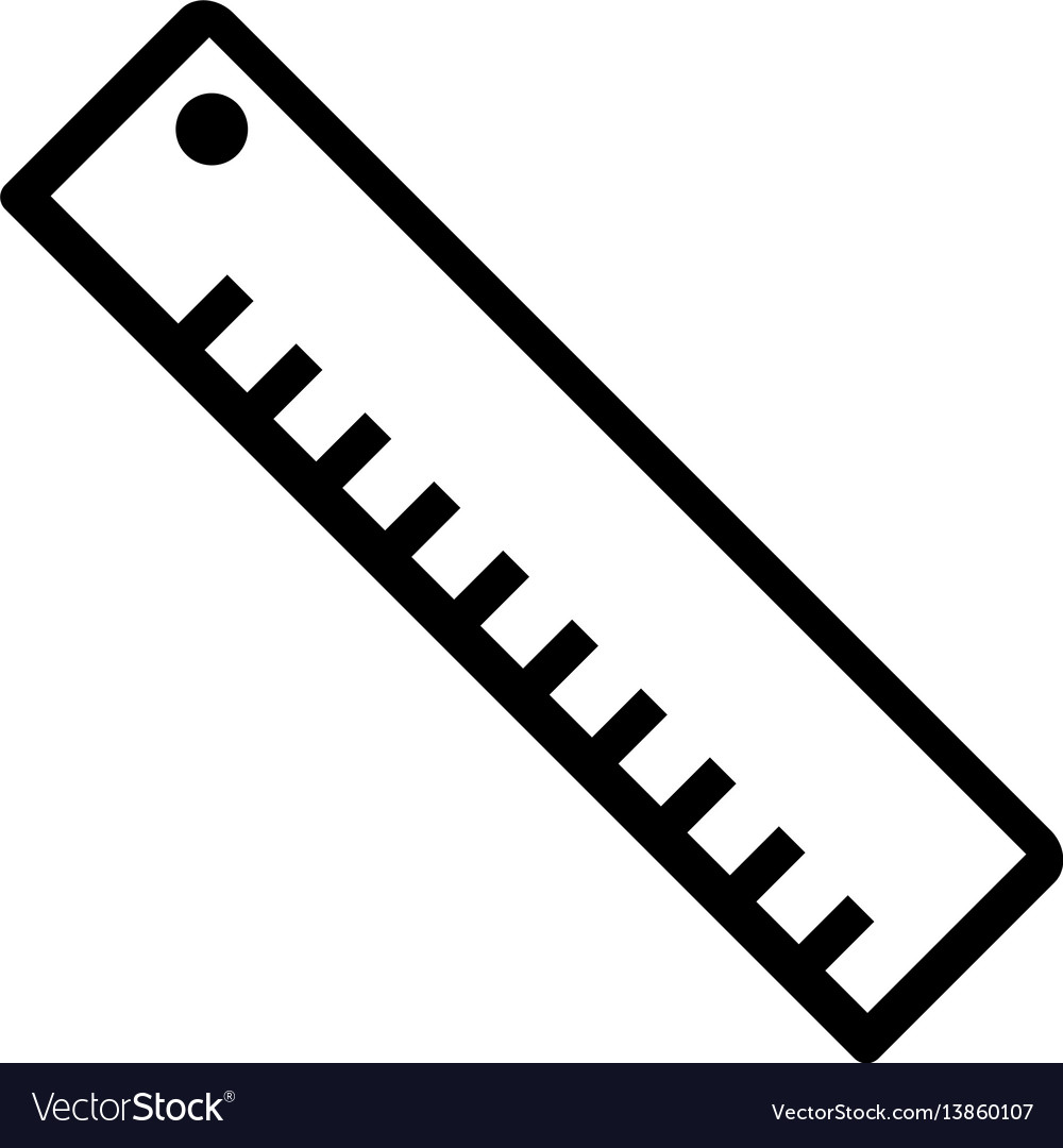 length ruler flat icon royalty free vector image rh vectorstock com vector ruler cm vector ruler cm