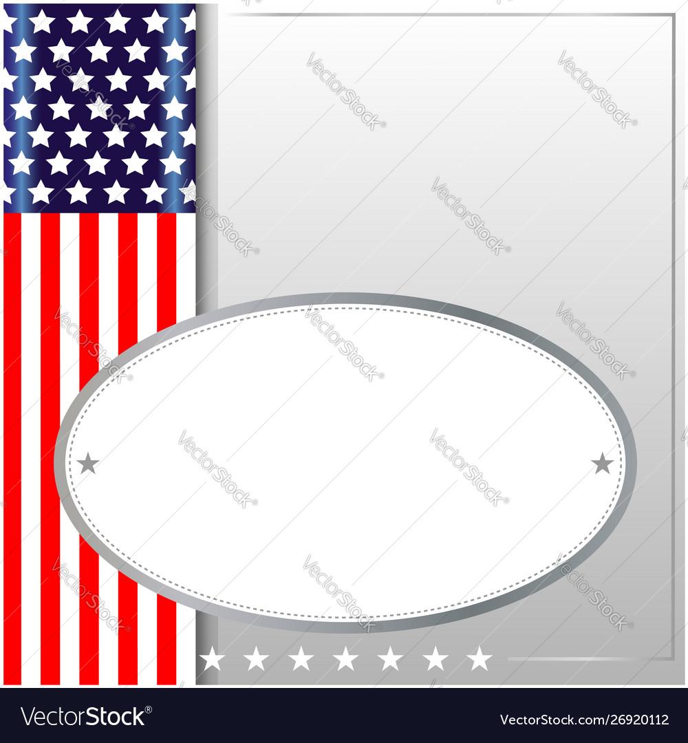 American symbolism background frame