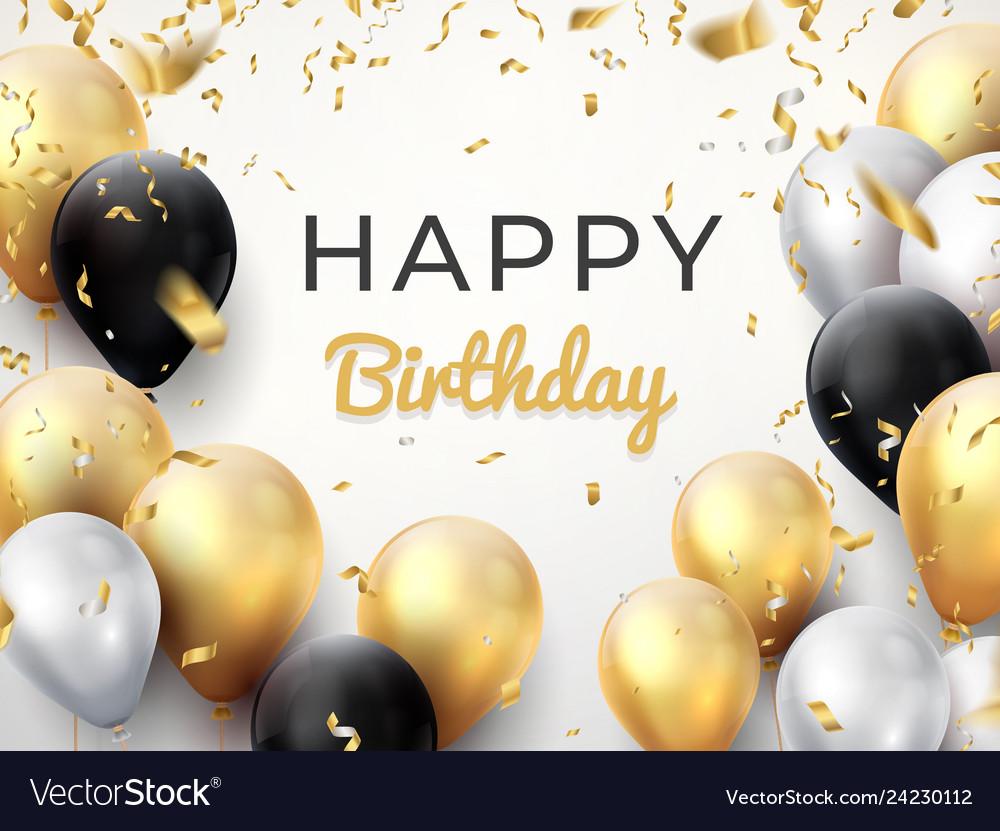 Birthday balloon background golden anniversary