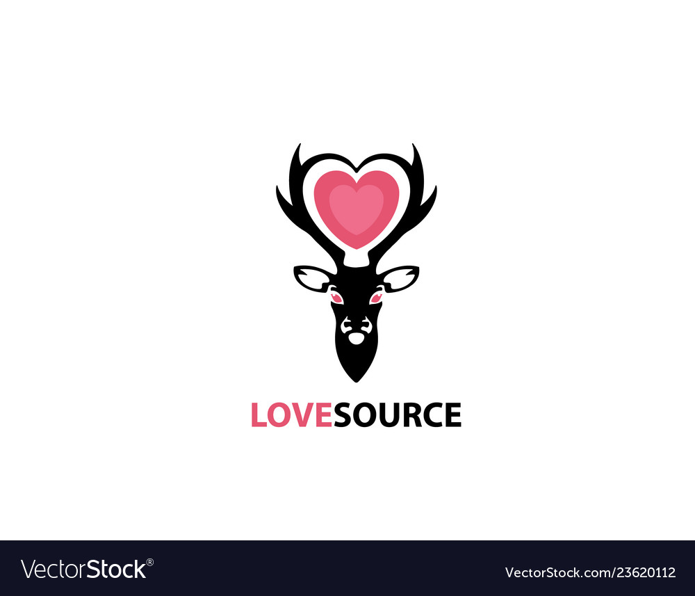 Deer love source alters logo concept