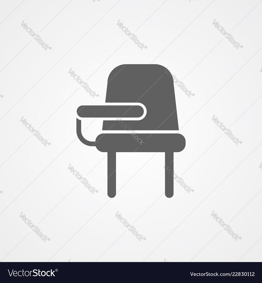 Desk chair icon sign symbol
