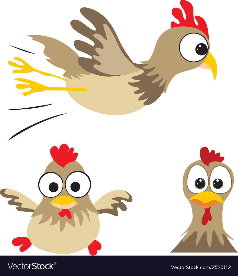 Funny Chicken Vector Clip Art Thanksgiving Stock Vector (Royalty Free)  1077443345