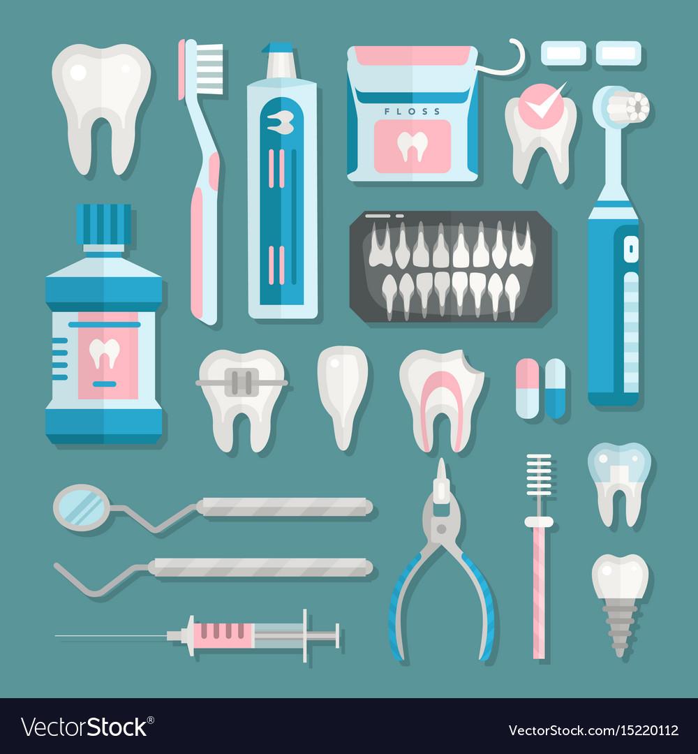 Health care dentist medical tools medicine vector image