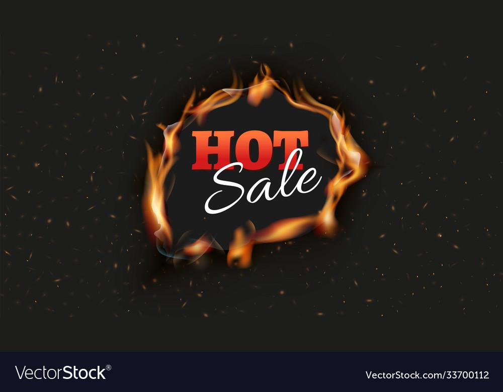 Hot sale banner burn discount ads black