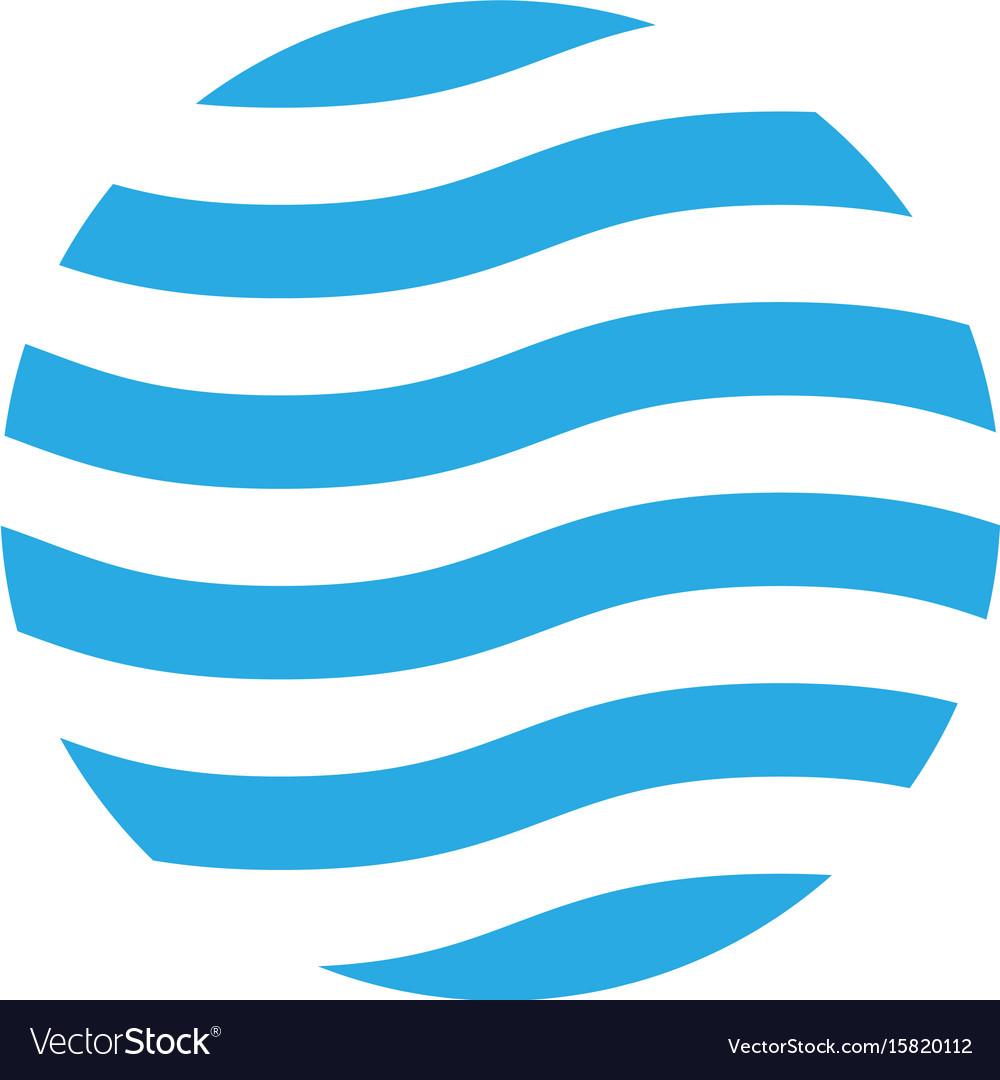 Wavy logo design template blue theme abstract