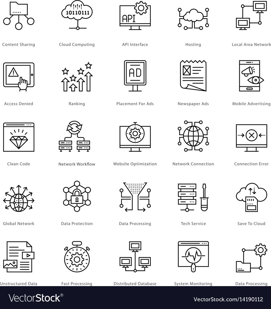 Web and seo line icons 56