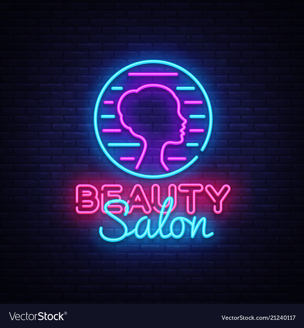 Beauty salon sign design template beauty