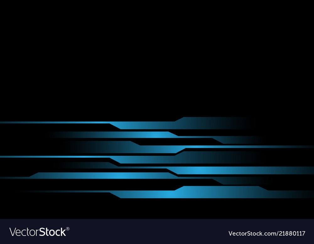 Blue light line futuristic on black design modern