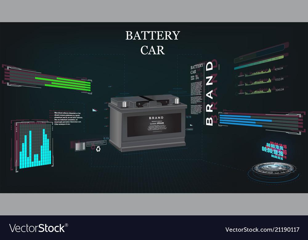 Car battery futuristic sci fi hi tech concept