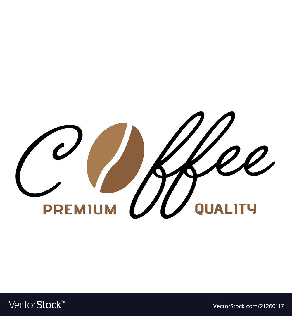 Coffee premium quality coffee bean white backgroun