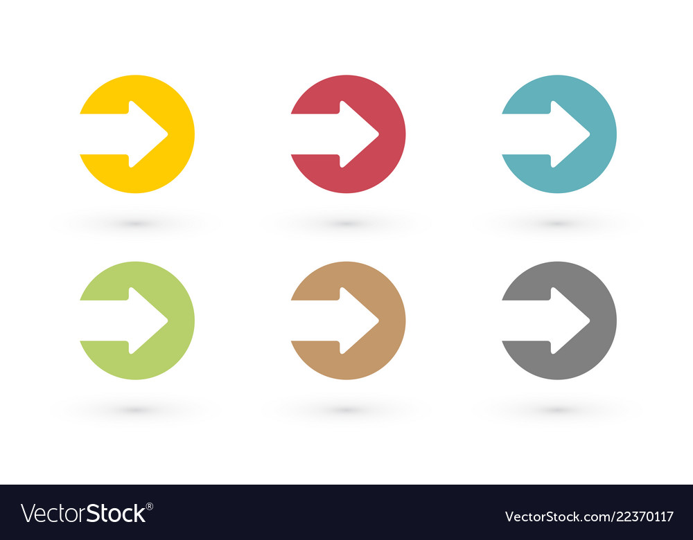 Colorful arrows in circle icon