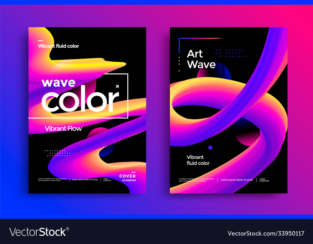 Creative art design poster with vibrant gradients