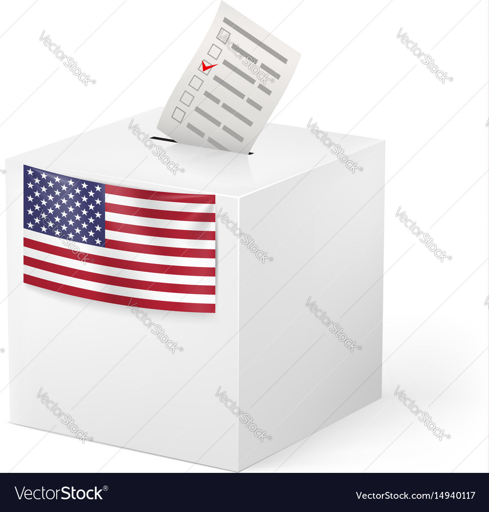 Election in united states of america ballot box