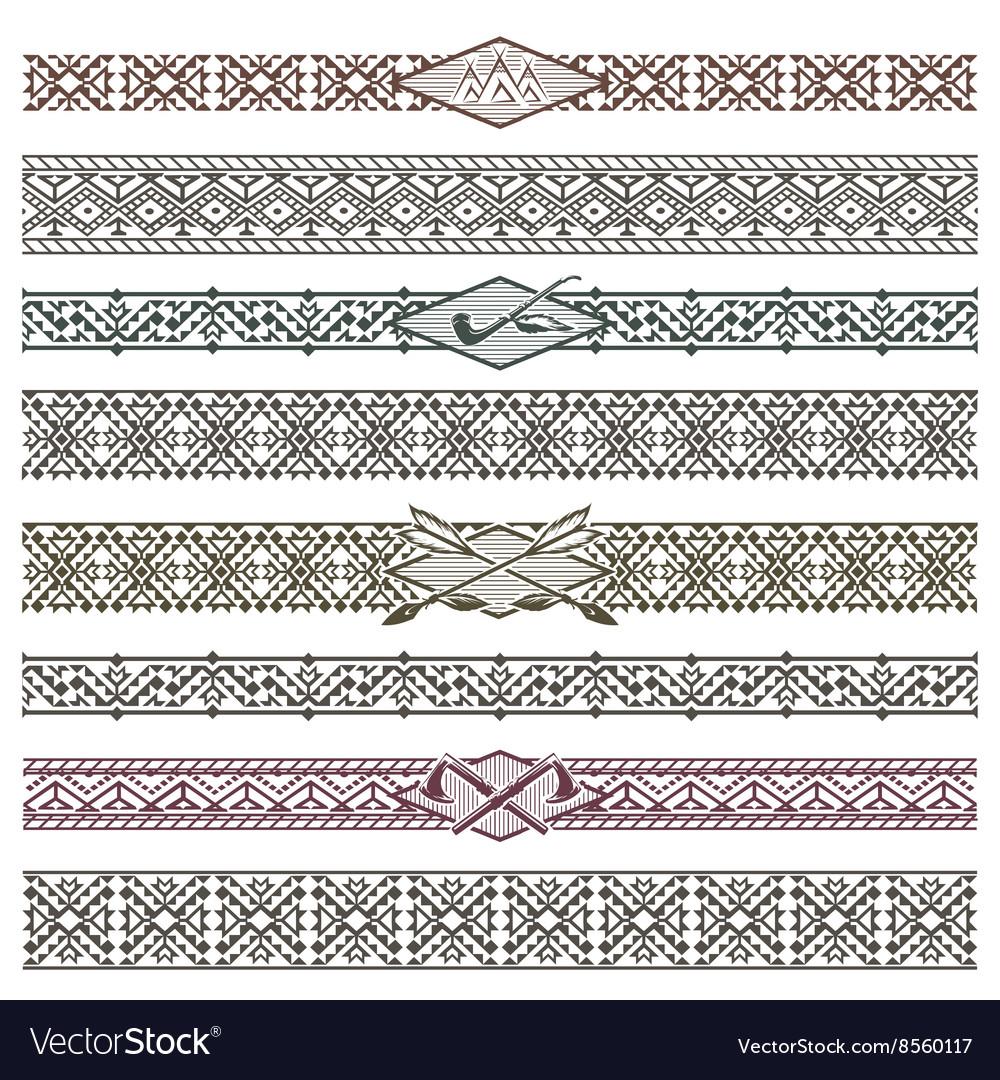 Ethnic native american border patterns