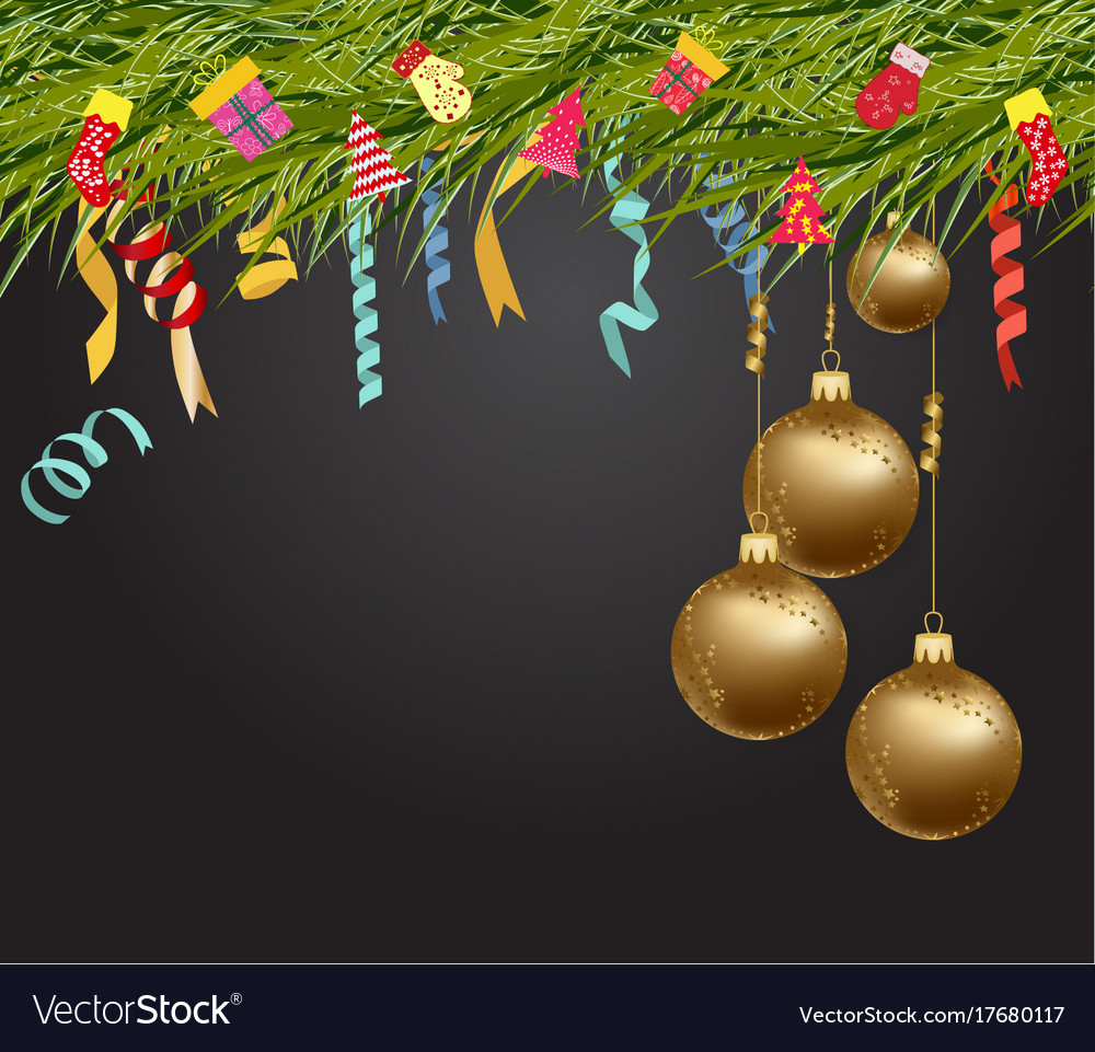 merry christmas and happy new year 2018 wallpaper vector image