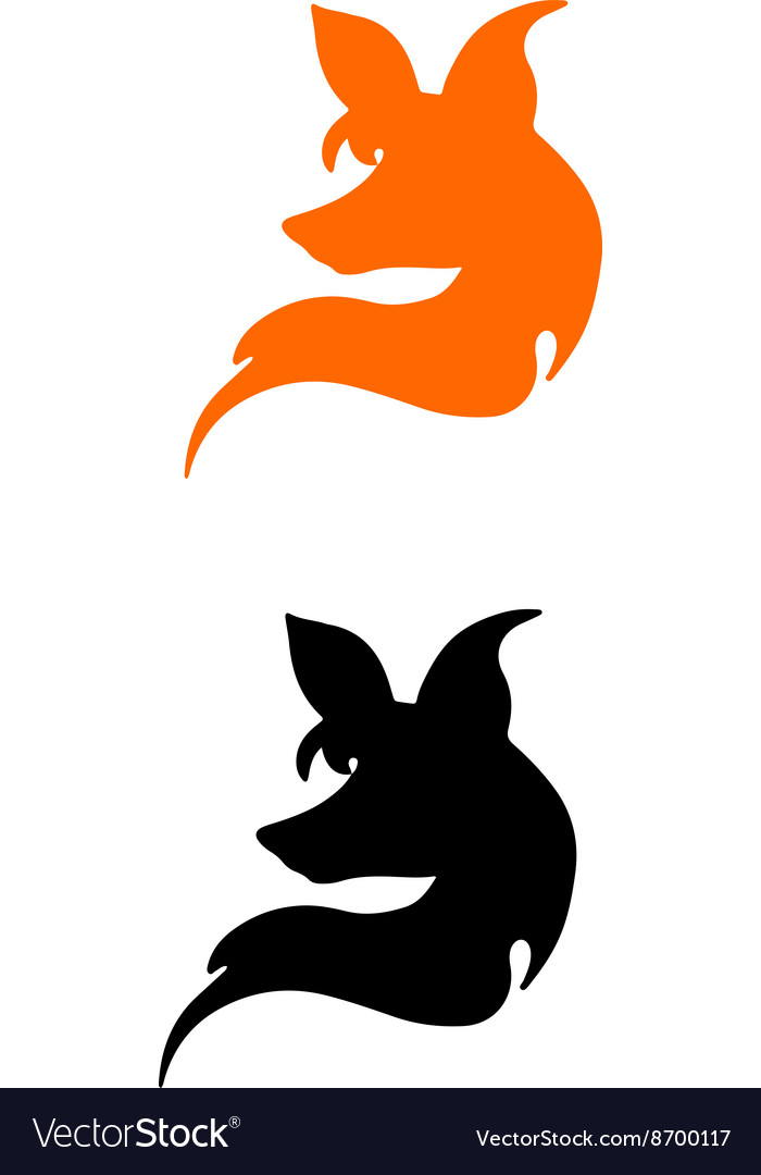 Silhouette of a head of fox