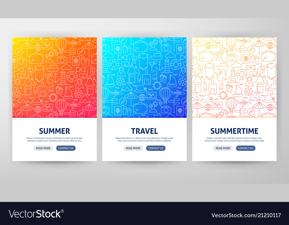 Summer travel flyer concepts