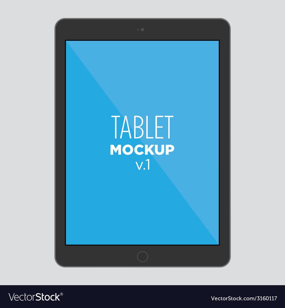 Tablet mockup v1 vector image