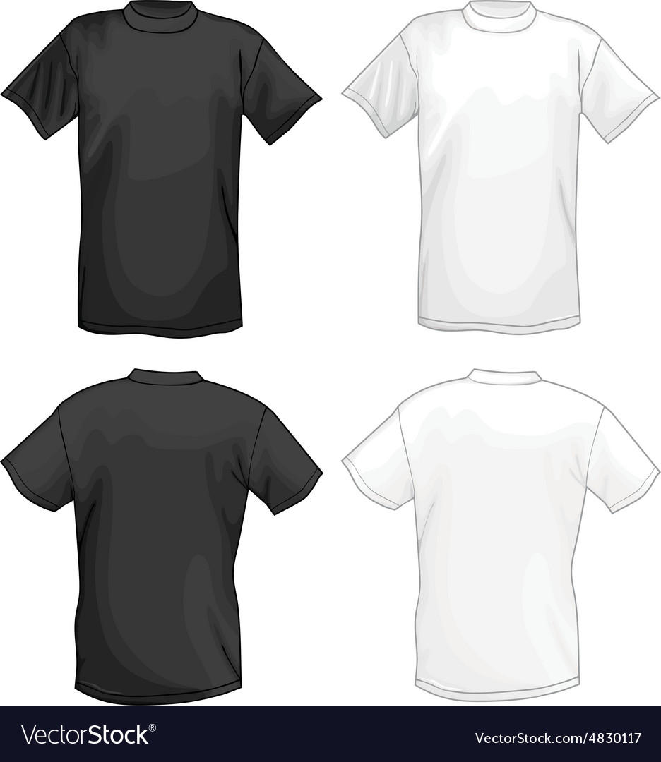 3ac8c6de White and black T-shirt design template Royalty Free Vector
