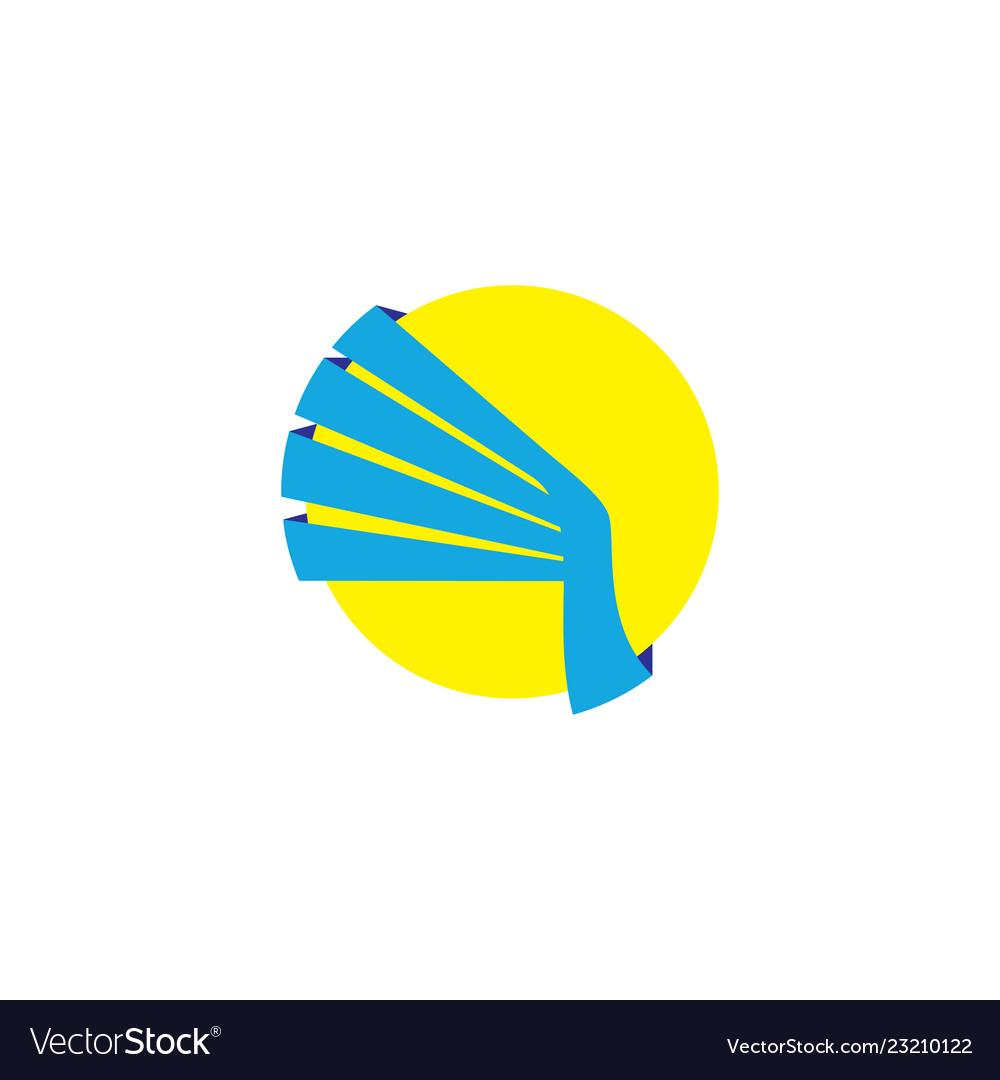 Abstract circle wing logo