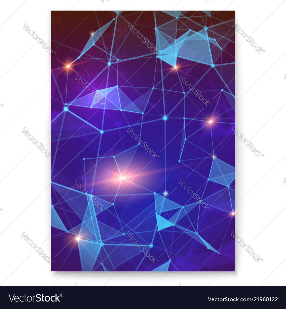 Abstract digital cover with pattern of plexus