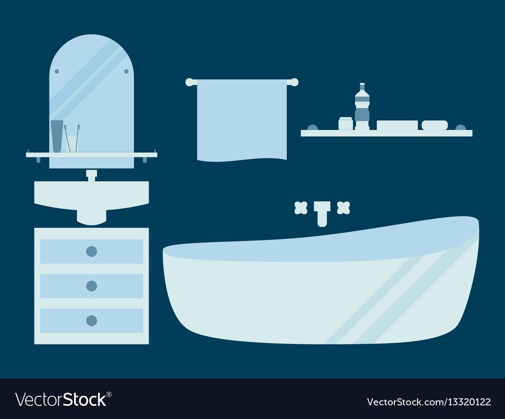 Bathroom in a flat style