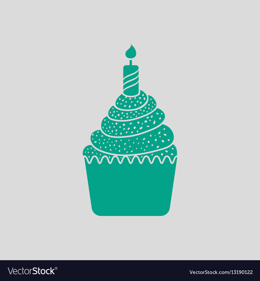 First Birthday Cake Icon Royalty Free Vector Image