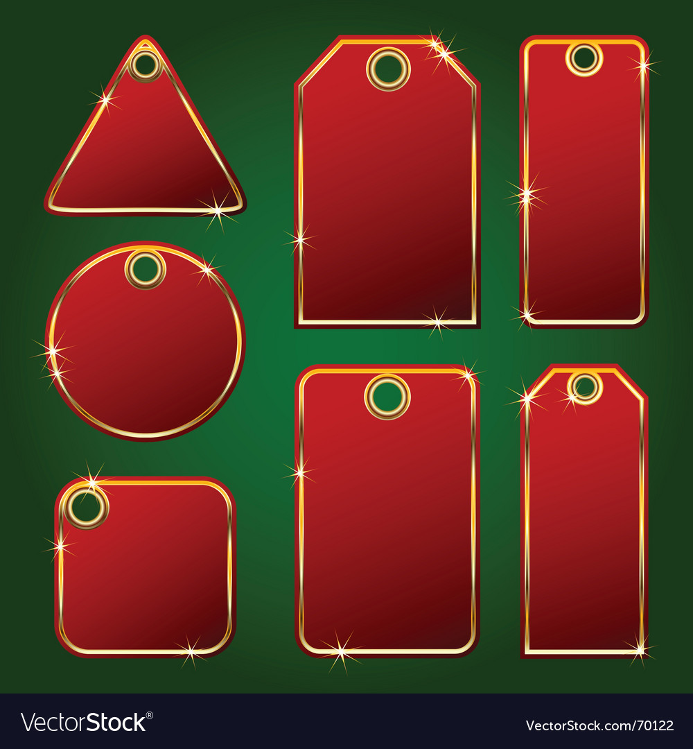Gift card tags vector image