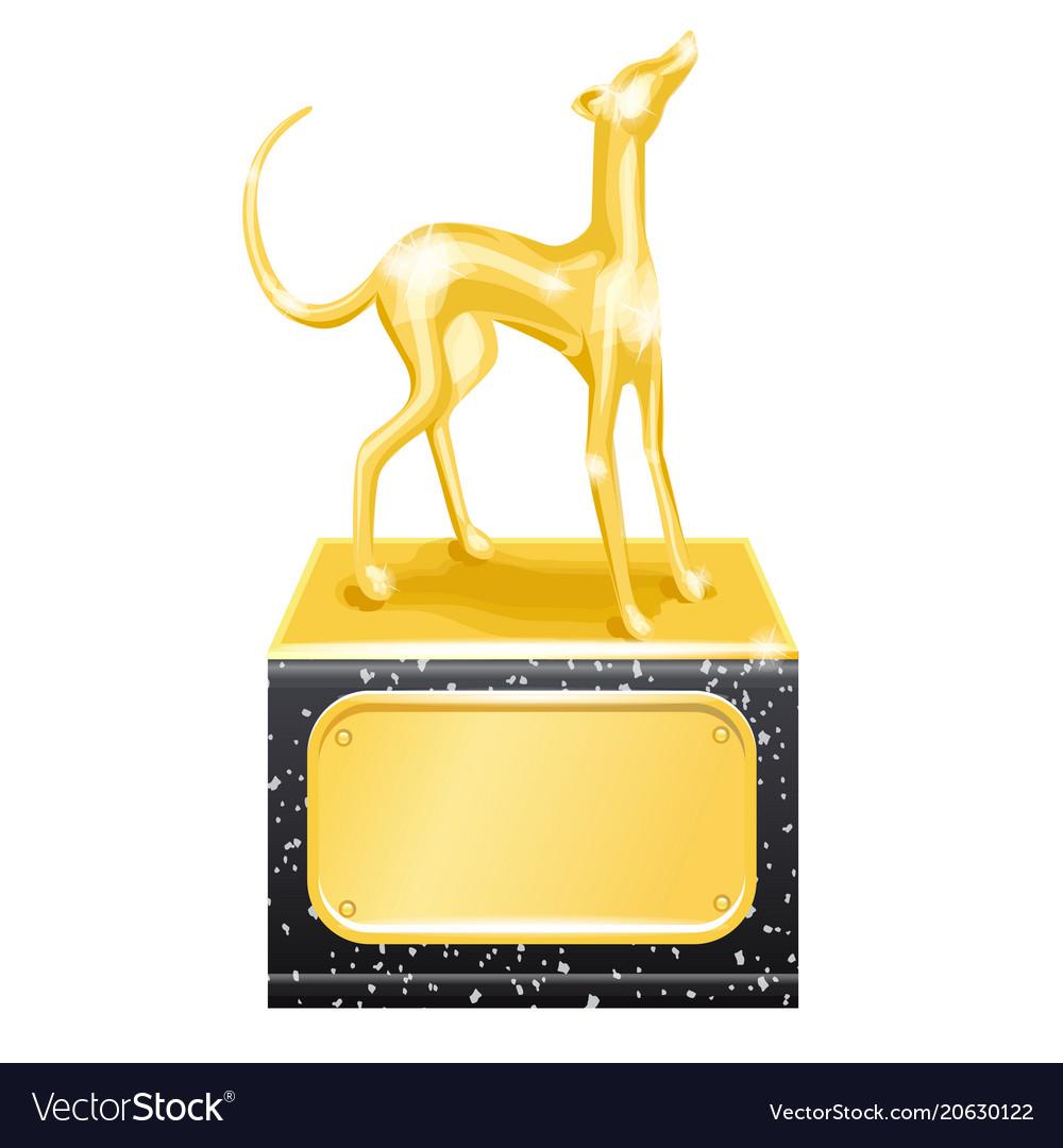 Golden trophy dog racing