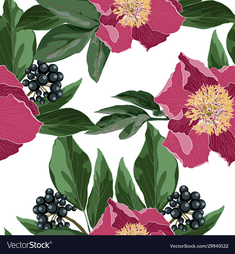 Repeating background with floral elements