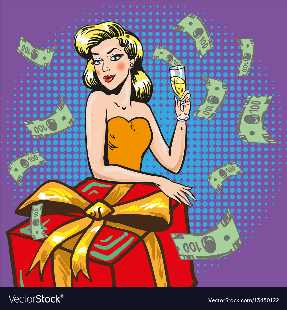 Rich successful woman pop
