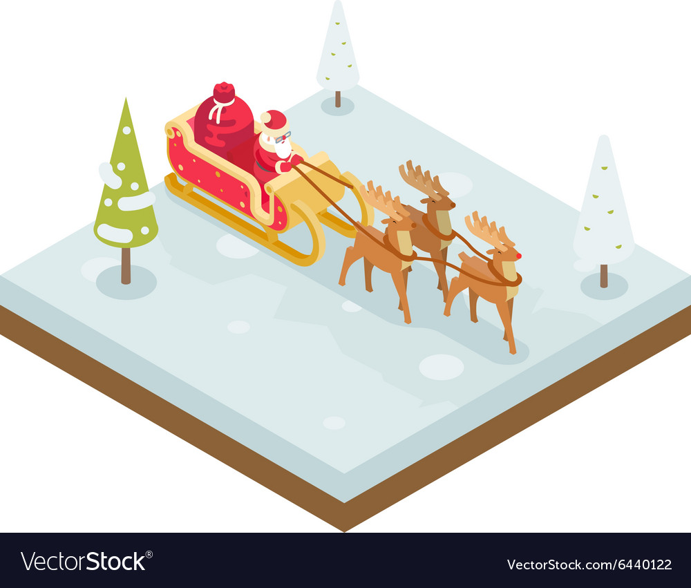 Santa Claus Grandfather Frost Sleigh Reindeer