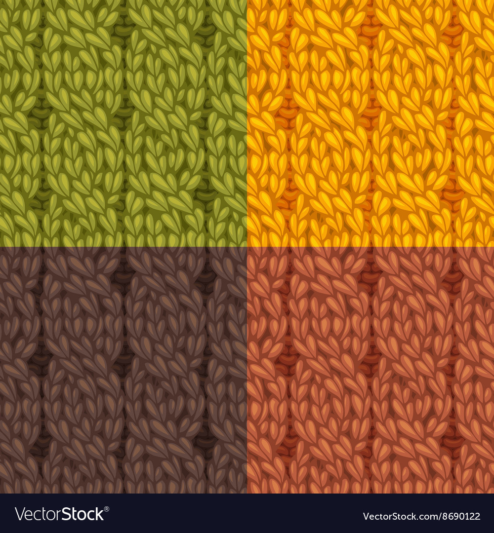 Seamless cables front patterns set vector image