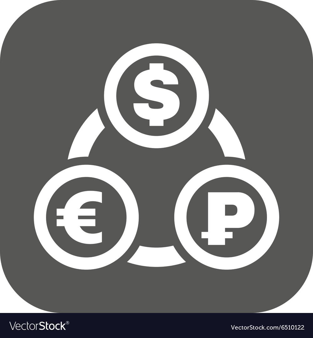 Dollar Euro Ruble Icon Vector Image